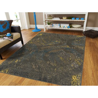 Houchens Wool Brown Indoor/Outdoor Area Rug Rug Size: Rectangle 5 x 8