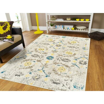 Casler Wool Beige Indoor/Outdoor Area Rug Rug Size: Rectangle 5 x 8