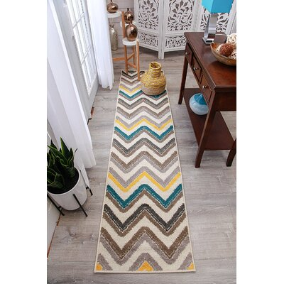 Truesdale Wool Cream Indoor/Outdoor Area Rug Rug Size: Runner 2 x 8