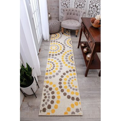 Truett Wool Cream Indoor/Outdoor Area Rug Rug Size: Runner 2 x 8