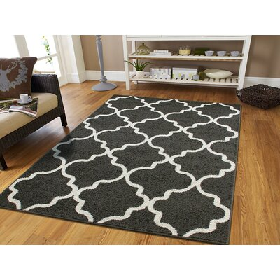 Cutler Wool Gray Indoor/Outdoor Area Rug Rug Size: Rectangle 5 x 8