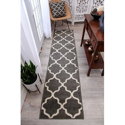 Cutler Wool Gray Indoor/Outdoor Area Rug Rug Size: Runner 2 x 8