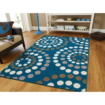 Truex Wool Blue Indoor/Outdoor Area Rug Rug Size: Rectangle 8 x 11