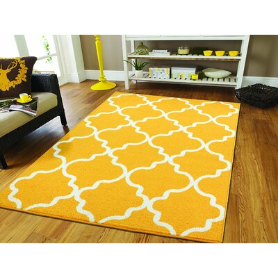 Cynthia Wool Yellow Indoor/Outdoor Area Rug Rug Size: Rectangle 5 x 8