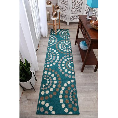 Truex Wool Blue Indoor/Outdoor Area Rug Rug Size: Runner 2 x 8