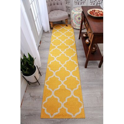 Cynthia Wool Yellow Indoor/Outdoor Area Rug Rug Size: Runner 2 x 8