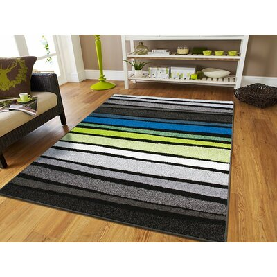 Melcher Wool Gray Indoor/Outdoor Area Rug Rug Size: Rectangle 2' x 3'