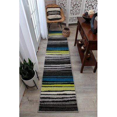 Melcher Wool Gray Indoor/Outdoor Area Rug Rug Size: Runner 2' x 8'