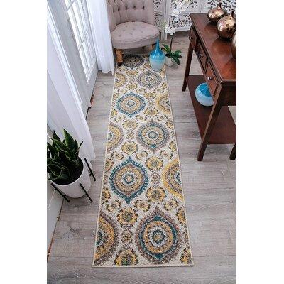 Houchin Wool Beige Indoor/Outdoor Area Rug Rug Size: Runner 2 x 8