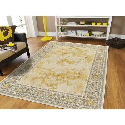 Arvidson Wool Yellow Indoor/Outdoor Area Rug Rug Size: Rectangle 8 x 11
