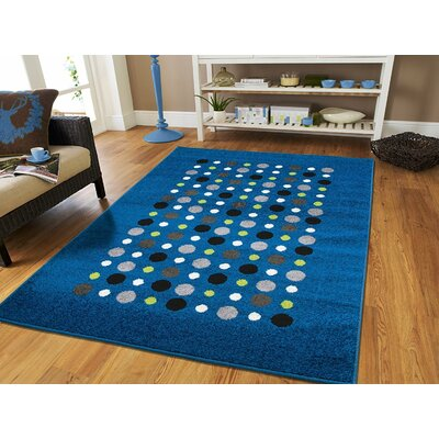 Meldrum Wool Blue Indoor/Outdoor Area Rug Rug Size: Rectangle 5 x 8