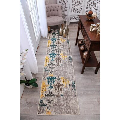 Houck Wool Beige Indoor/Outdoor Area Rug Rug Size: Runner 2 x 8