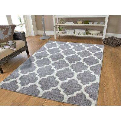 Cyril Wool Gray Indoor Area Rug Rug Size: Rectangle 5 x 8