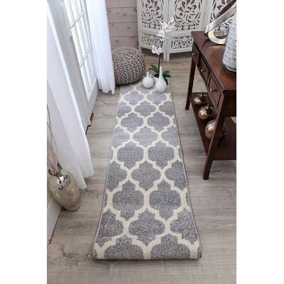 Cyril Wool Gray Indoor Area Rug Rug Size: Runner 2 x 8