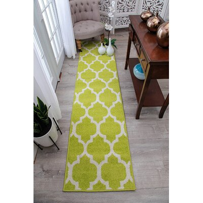 Daley Wool Green Indoor/Outdoor Area Rug Rug Size: Runner 2 x 8