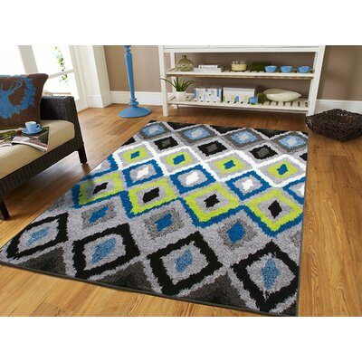 Melendez Wool Blue Indoor/Outdoor Area Rug Rug Size: Rectangle 5 x 8