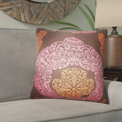 Roselyn Geometric Cotton Throw Pillow Color: Pink/Brown
