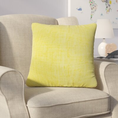 Helton Solid Throw Pillow Color: Lemon