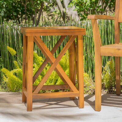 Marrufo Outdoor Acacia Wooden Side Table 772 Item Photo
