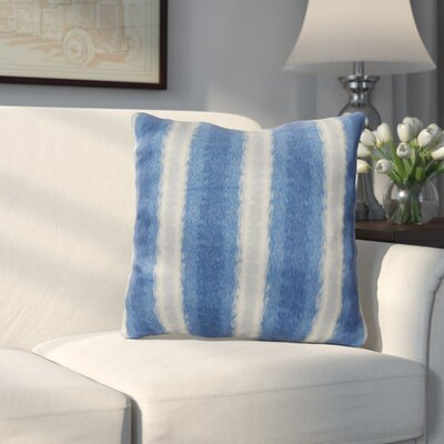Wilkinsburg Sea Lines Indoor/Outdoor Throw Pillow Size: 16 H x 16 W, Color: Blue