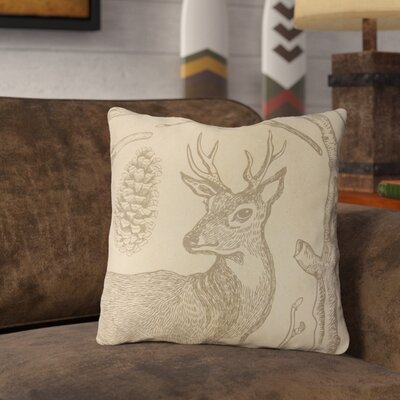 Brendan Woodland Deer Throw Pillow Size: 16 x 16