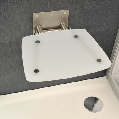 Square Fold-Up Shower Chair Color: Frosted White