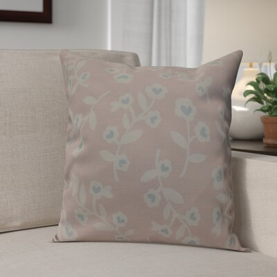 Valentines Floral Indoor/Outdoor Throw Pillow Size: 16 H x 16 W, Color: Pink