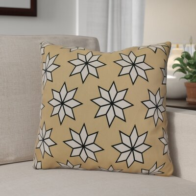 Decorative Holiday Geometric Print Outdoor Throw Pillow Size: 20 H x 20 W, Color: Taupe