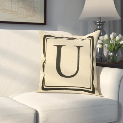 Beaver Creek Monogram Throw Pillow Letter: U