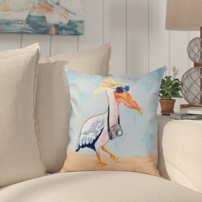 Boubacar Animal Print Throw Pillow Size: 26 H x 26 W, Color: Blue