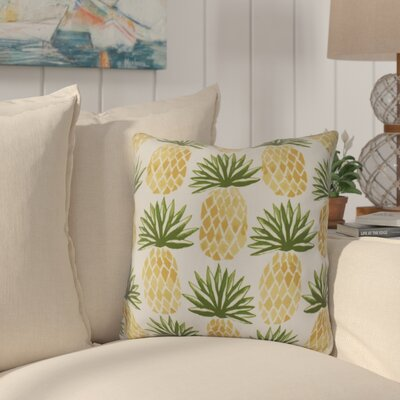 Costigan Pineapple Stripes Throw Pillow Size: 18 H x 18 W x 3 D, Color: Green