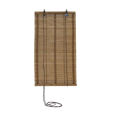 Saul Bamboo Room Darkening Light Brown Roll-Up Shade