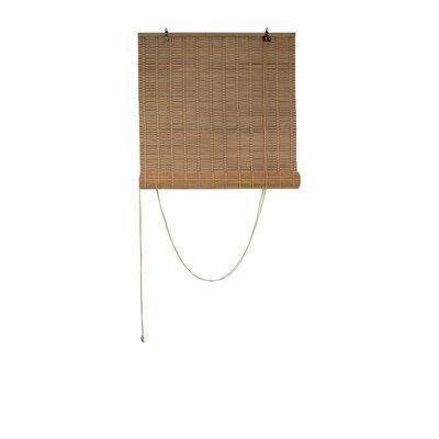 Santillo Bamboo Room Darkening Light Brown Roll-Up Shade