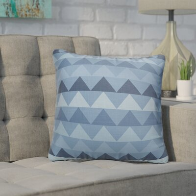 Gavin Burlap Indoor/Outdoor Throw Pillow Size: 18 H x 18 W x 5 D, Color: Blue