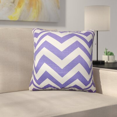 Sullivan Street Chevron Cotton Throw Pillow Color: Purple