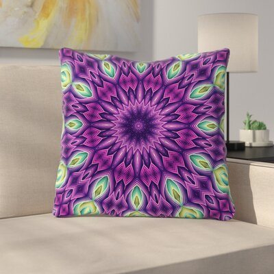Zapped by Sylvia Cook Throw Pillow Color: Purple