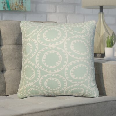 Gamache Geometric Cotton Throw Pillow Color: Mint