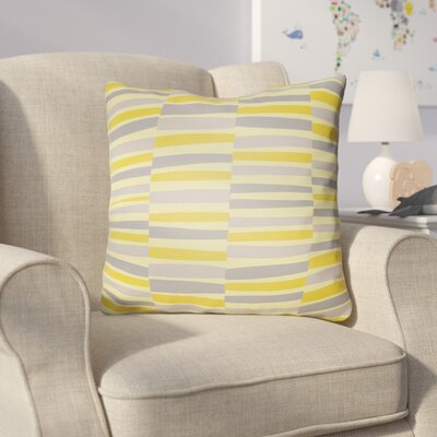 Colinda Throw Pillow Size: 18 H x 18 W x 4 D, Color: Yellow