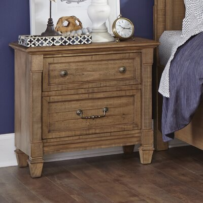 Hooley 2 Drawer Nightstand
