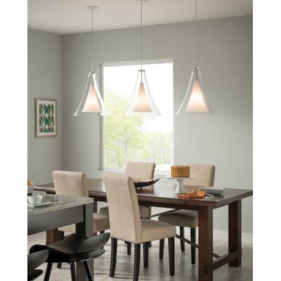 Pinion 1-Light Mini Pendant Finish: White