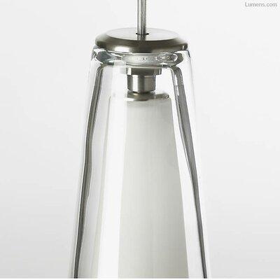 Pickerel 1-Light LED Geometric Pendant Finish: Satin Nickel, Shade Color: Clear