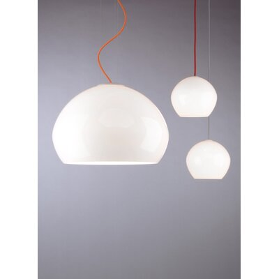 Golub 1-Light LED Inverted Pendant Finish: White, Cord Color: Orange