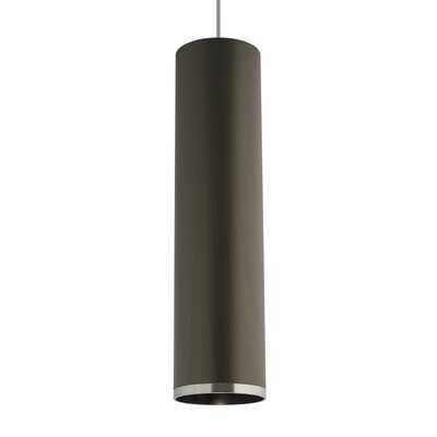 Pinkham 1-Light Mini Pendant Finish: Satin Nickel/Clear, Shade Color: Brown Chestnut