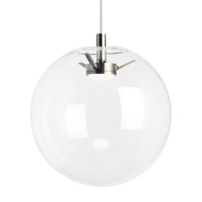 Gosney Globe Pendant Finish: Satin Nickel, Shade Color: Clear