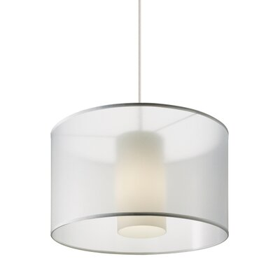 Gosnell 1-Light Drum Pendant Finish: Satin Nickel, Shade Color: White