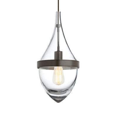 Cumbie 1-Light Mini Pendant Finish: Antique Bronze, Color Temperature: 2700