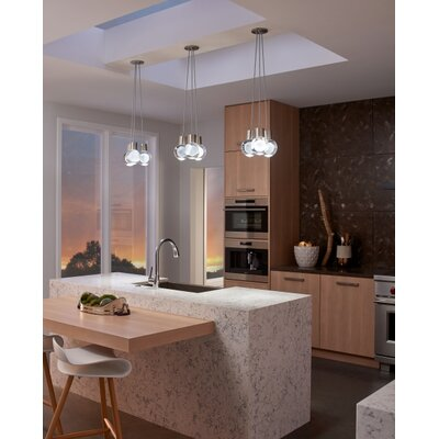 Pipkins 11 LED Integrated Bulb Pendant Finish: Black