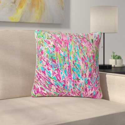 Empire Ruhl Spring Grass Abstract Outdoor Throw Pillow Size: 18 H x 18 W x 5 D