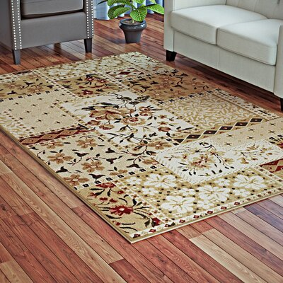 Colena Flower Patch Brown Area Rug Rug Size: Rectangle 5 x 8