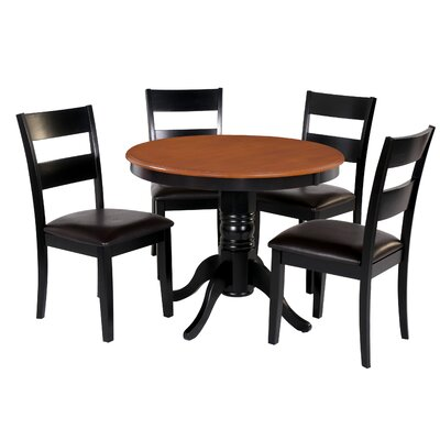 Dahlberg 5 Piece Dining Set Chair Color: Brown